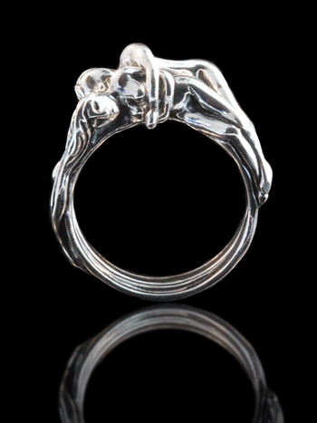 Lovers - Spooning Ring (Two Part Ring) Silver