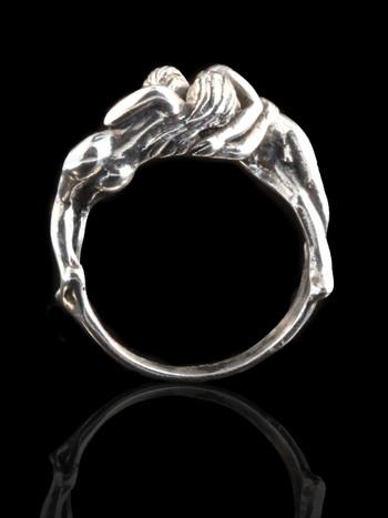 Kiss Ring Silver
