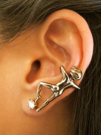 Ear Man Ear Cuff Bronze