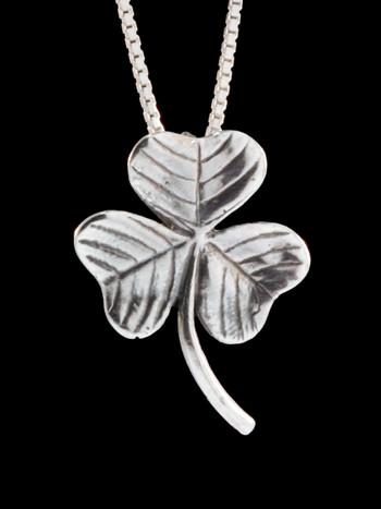 Shamrock Charm Pendant - Silver