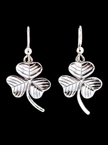 Shamrock Earrings - Silver