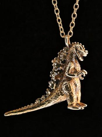 Godzilla Pendant - Bronze
