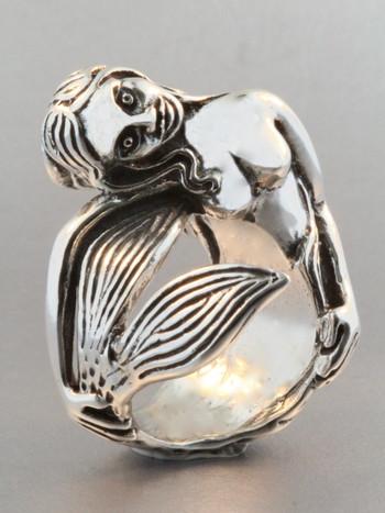Siren's Song Mermaid Ring - Silver