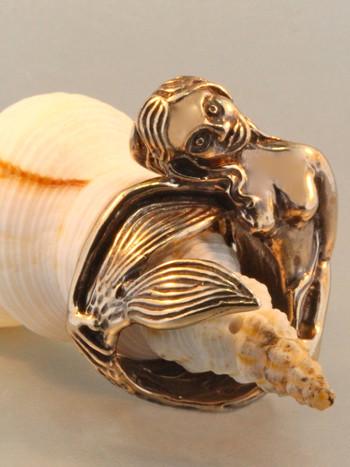 Siren's Song Mermaid Ring - Bronze