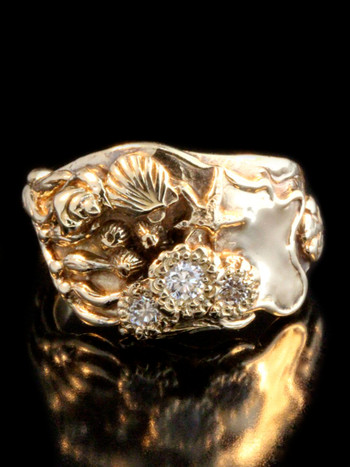 Tide Pool Ring with Diamonds -14K Gold