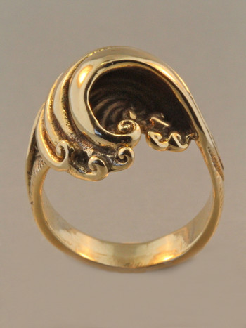 14K gold Maverick wave ring