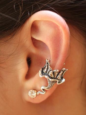 Lotus Dream Ear Cuff - Silver