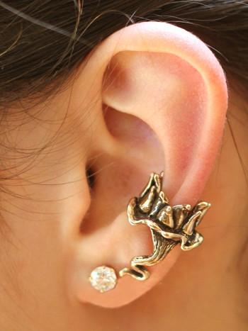 Lotus Dream Ear Cuff - Bronze