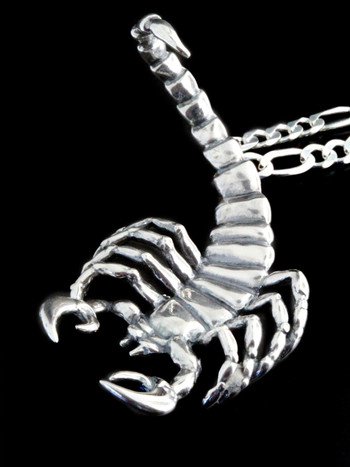 Scorpion Pendant - Silver