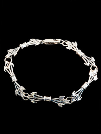 Quiver and Arrow Bracelet in Silver
