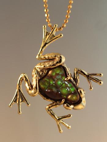 Harlequin Frog Pendant - SOLD