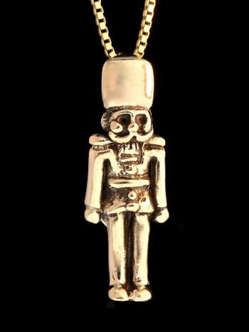 Christmas - Nutcracker Charm - 14k Gold