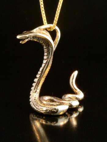 14k gold cobra charm