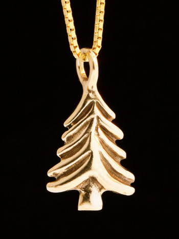 Small Christmas Tree - 14k Gold