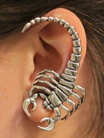 Silver Scorpion Ear Wrap