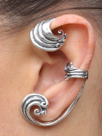 Silver Wave Wrapture Ear Wrap