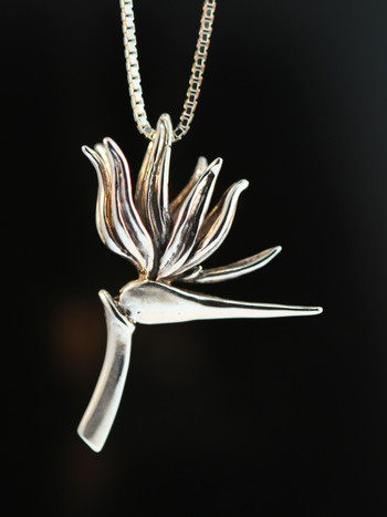 Bird of Paradise Charm Pendant (right facing)
