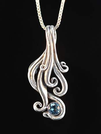 Cascade Waterfall Pendant with Topaz