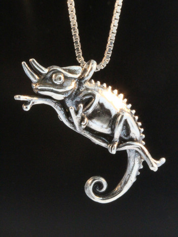 Jackson Chameleon Charm Silver