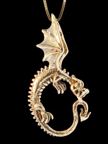 Oracle Dragon Pendant - 14k Gold