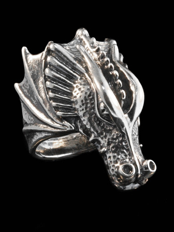 Valor Dragon Ring - Silver