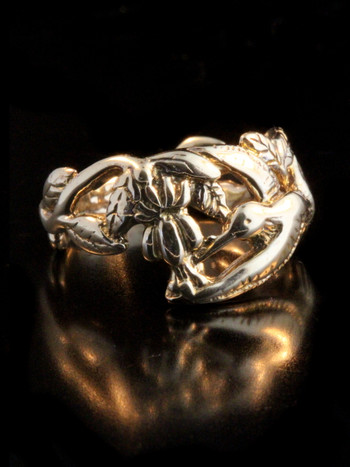 Hummingbird Ring - 14k Gold
