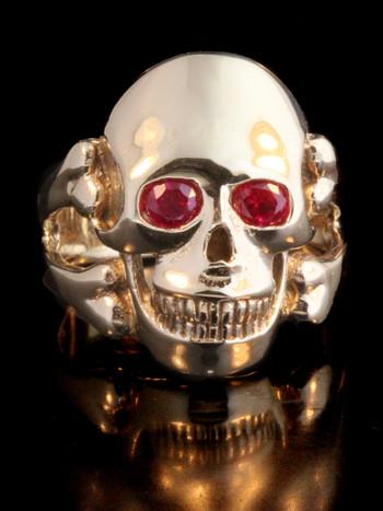 Skull and Crossbone Ring 14k Gold