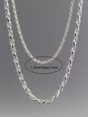Rope Chain 1.25mm Sterling Silver