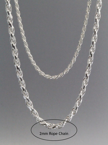 Rope Chain 2mm Sterling Silver