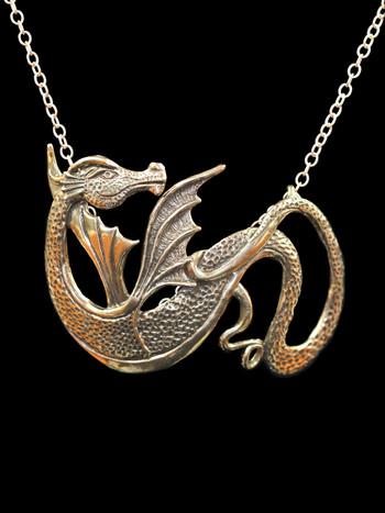 Wyvern Dragon Pendant - Bronze