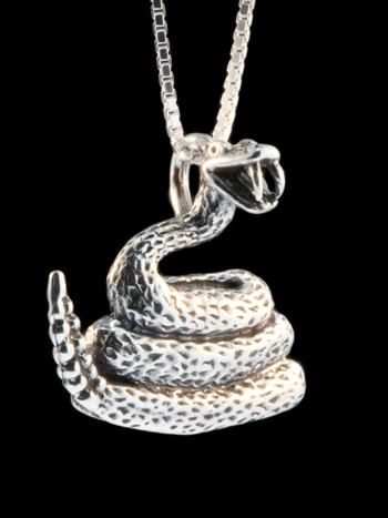 Rattlesnake Pendant - Silver