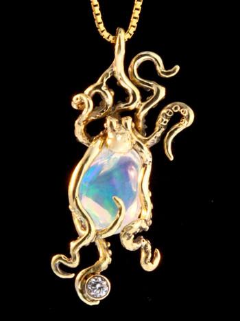 Atlantis Octopus Pendant in 18K Gold