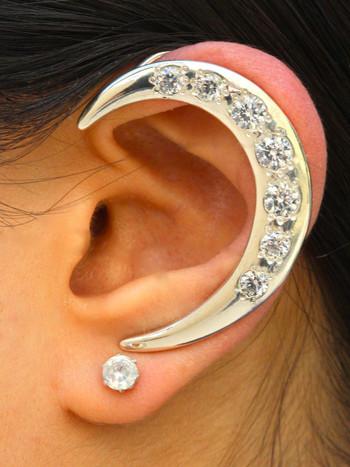 Crescent Ear Wrap - Silver