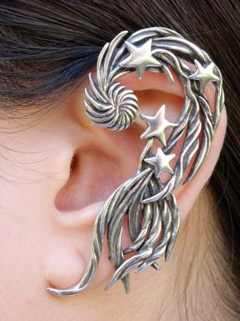 Comet Ear Wrap - Silver