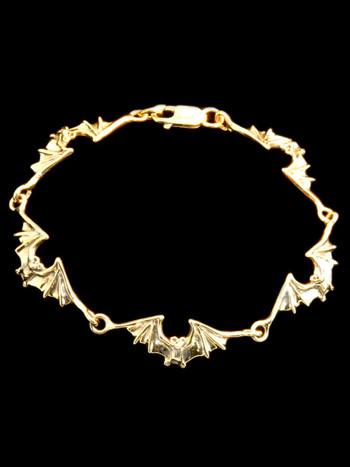 Bat Link Bracelet 14k Gold