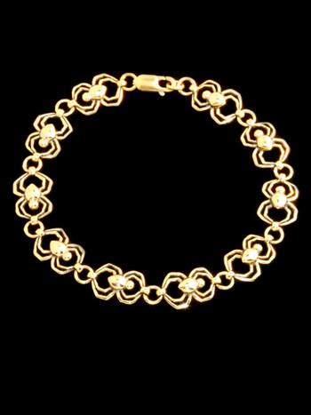 Spider Link Bracelet -14k Gold