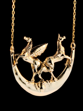 Pegasus Unicorn Moon -14k