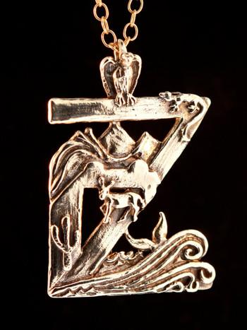 Zacatitos Oasis Medallion in Bronze