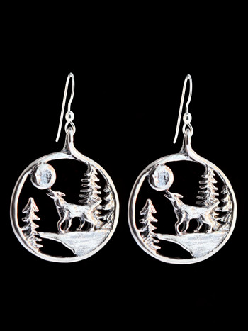 Lunar Wolf Song Earrings