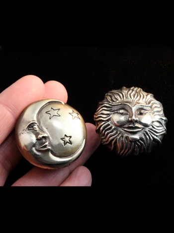 Moon Ring Brass Cast Sun