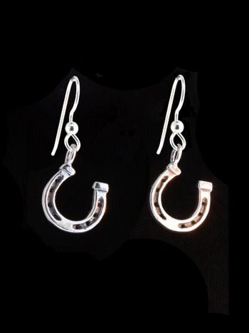 Good Luck Horseshoe Earrings - Silver