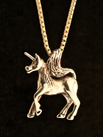 Unicorn Charm - 14k Gold