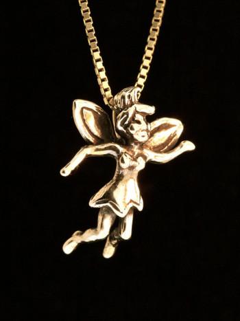 Classic Peter Pan - Tinker Bell Charm - 14k Gold