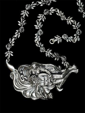 Beauty and the Beast Neckpiece - Silver