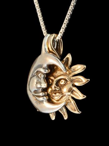 Eclipse Pendant - Bronze and Silver