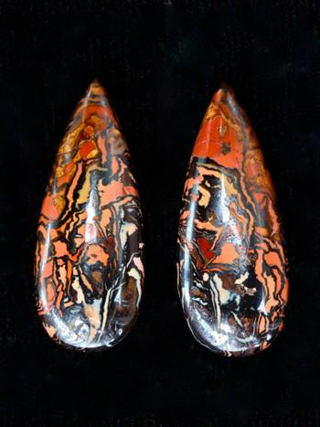 Inferno - Pair of Australian Koroit boulder Opals - SOLD