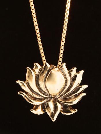 Lotus Charm in 14K Gold