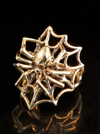 Spider Web Ring in 14K Gold