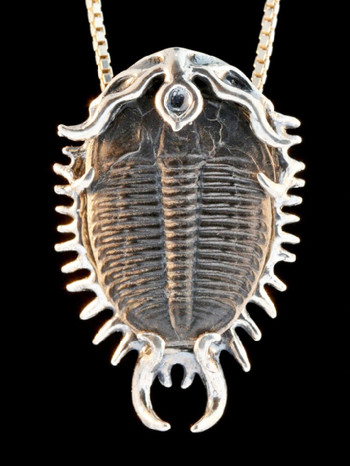 Colossal Spiked Trilobite Pendant in Silver