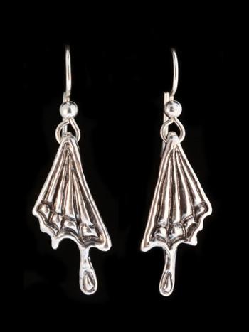 Butterfly Wing Earrings in Silver